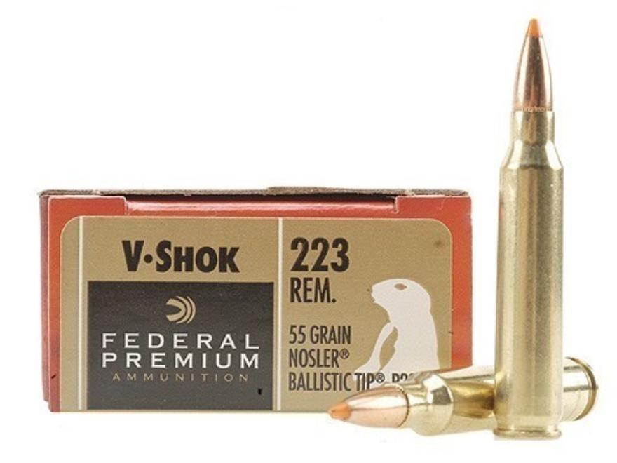 Federal V-ShOK ammo Remington .223 caliber