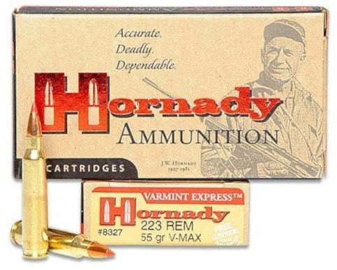 HornadayVMAX ammunition in Remington .223 Match