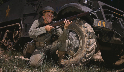 rifleman armed with m1 garand