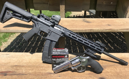 Smith and Wesson MP15 and Smith and Wesson Model 617