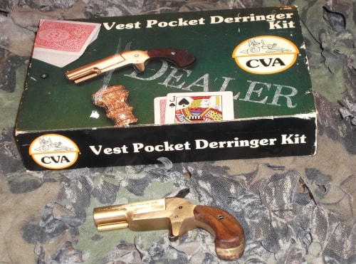 Vest Pocket Derringer Kit gun with its box