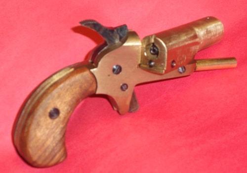 Vest Pocket Derringer swung wide open to load