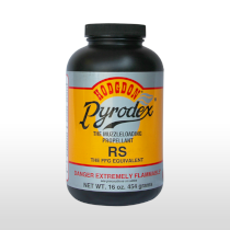 one pound cannister of granular pyrodex RS