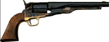 A Cabela Colt Army cap and ball revolver.