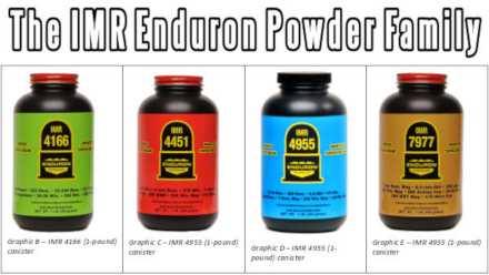 IMR Enduron powder in one pound cannisters