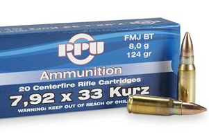 7.92 X  33-Kurz-Cartridge