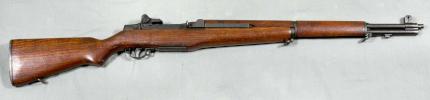 M1 Garand rifle side profile