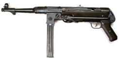 MP-38-40 machinepistol also designed by Hugo Scchmeiser