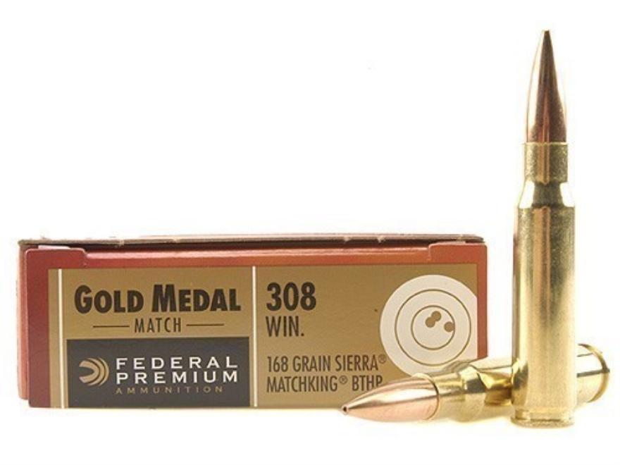 Federal Match 168 grain bthp