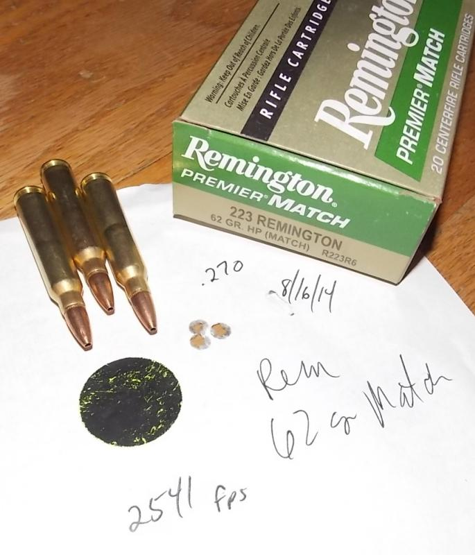 .223 Remington 62 grain  Match ammo